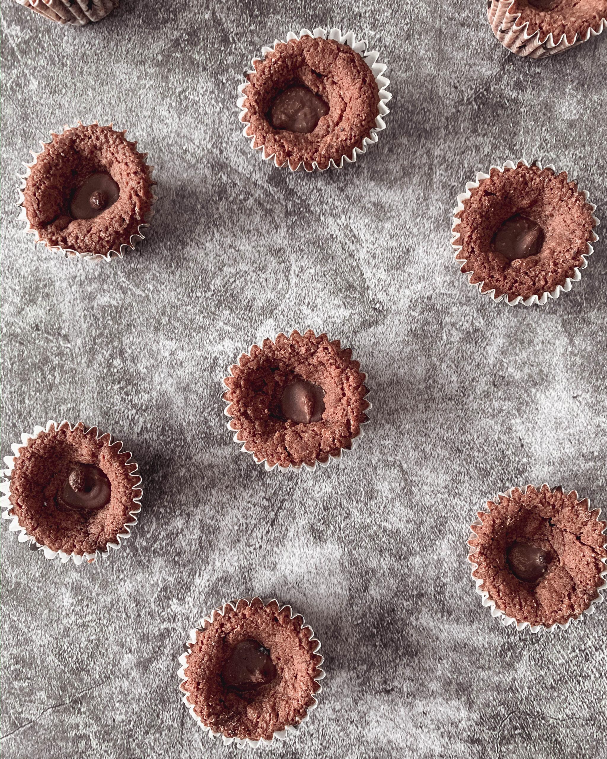 Nutellagrottor - chokladkakor fyllda med Nutella